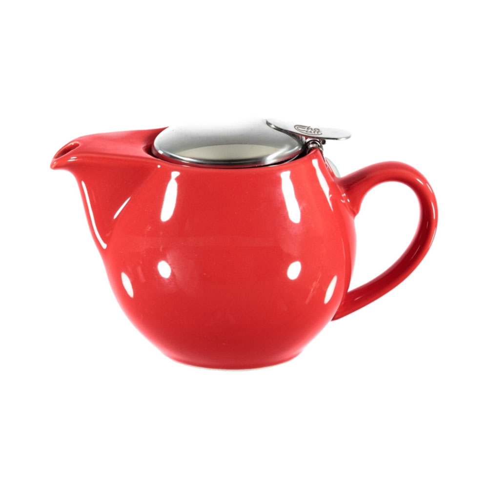 Theepot met filter rood 0,5L