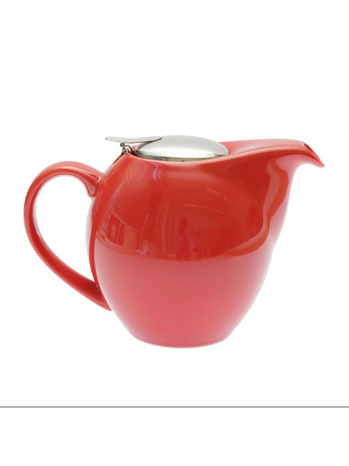 Theepot 0,9L rood met filter