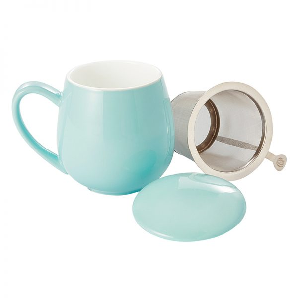 Theemok met filter turquoise
